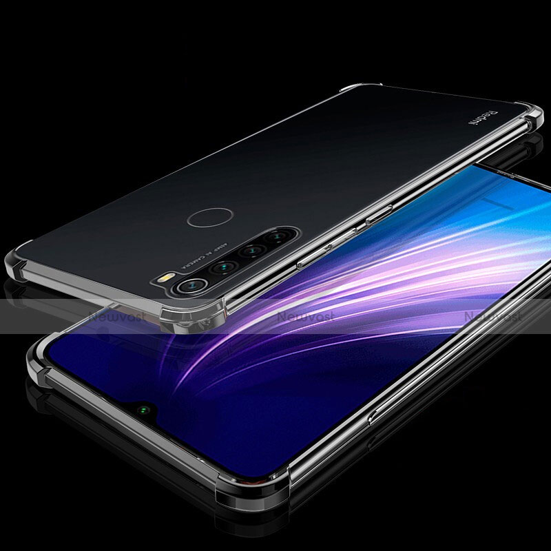 Ultra-thin Transparent TPU Soft Case Cover H01 for Xiaomi Redmi Note 8 Black