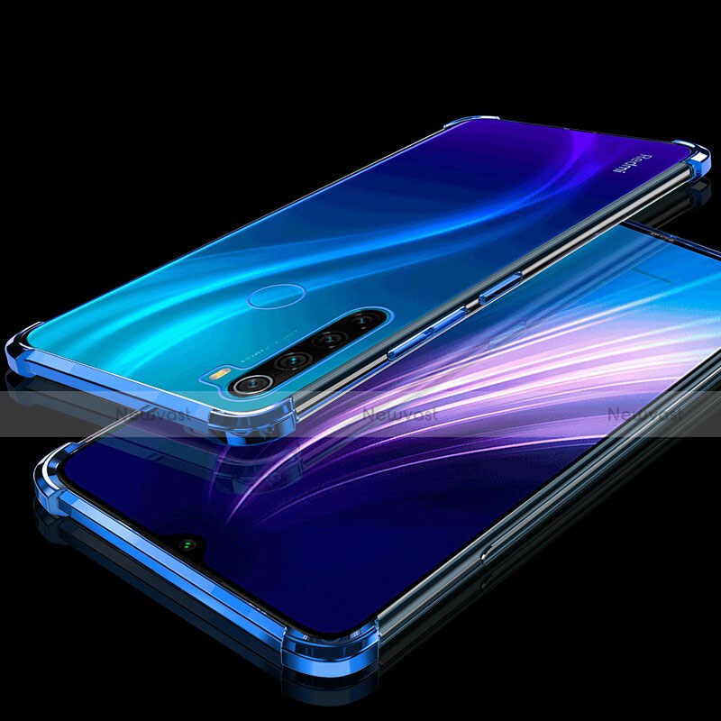 Ultra-thin Transparent TPU Soft Case Cover H01 for Xiaomi Redmi Note 8 Blue
