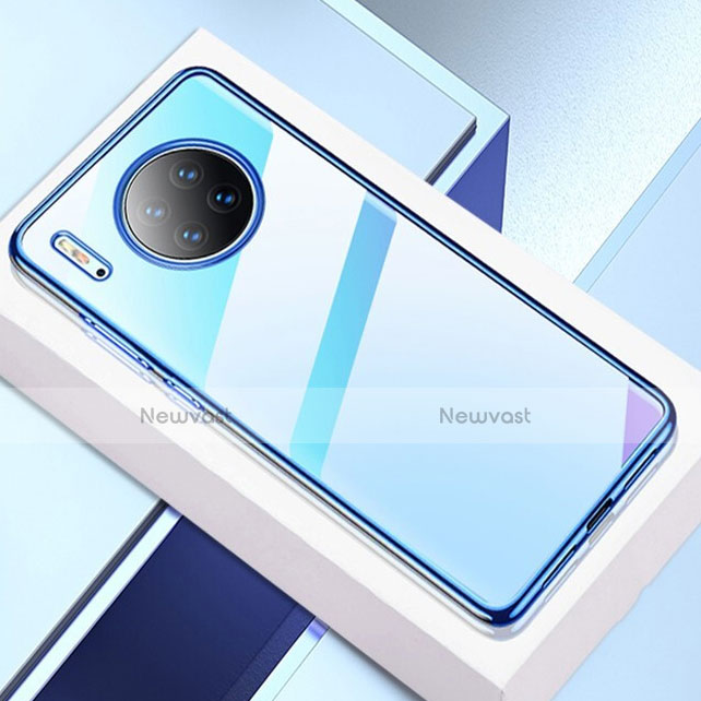 Ultra-thin Transparent TPU Soft Case Cover H02 for Huawei Mate 30 Pro 5G Blue