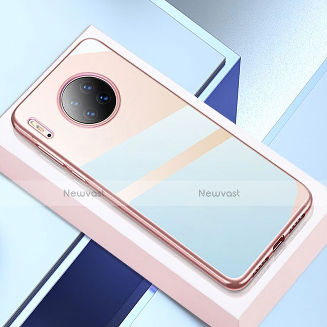 Ultra-thin Transparent TPU Soft Case Cover H02 for Huawei Mate 30 Pro 5G Rose Gold