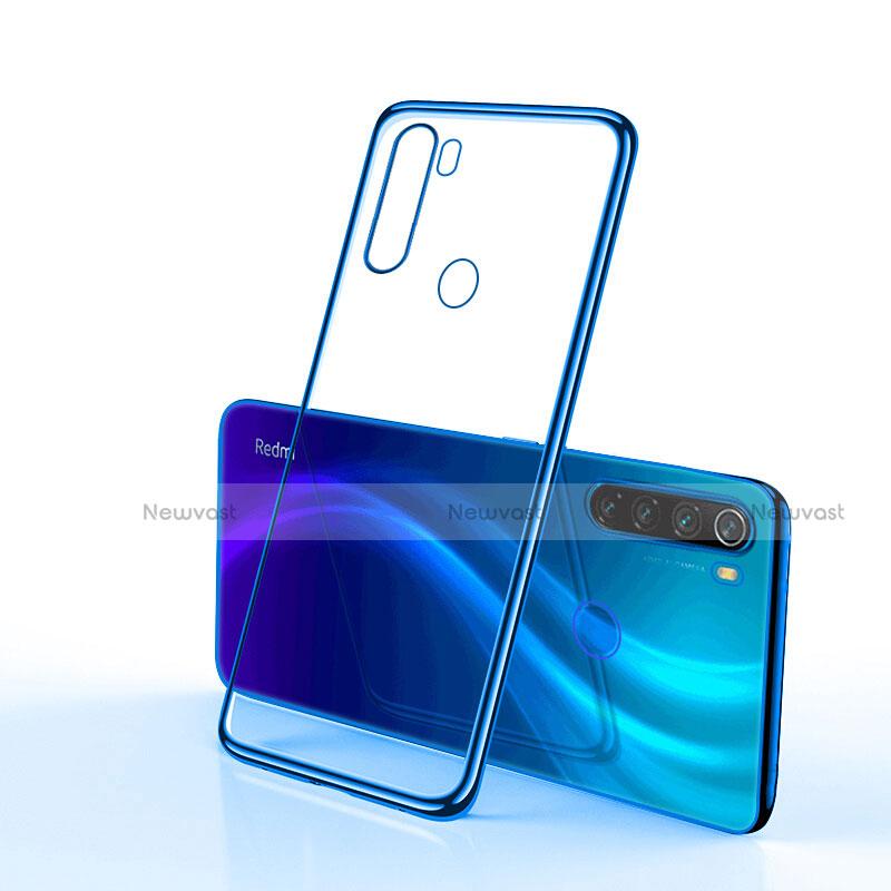 Ultra-thin Transparent TPU Soft Case Cover H02 for Xiaomi Redmi Note 8 Blue