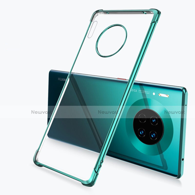 Ultra-thin Transparent TPU Soft Case Cover H03 for Huawei Mate 30 Pro 5G Green