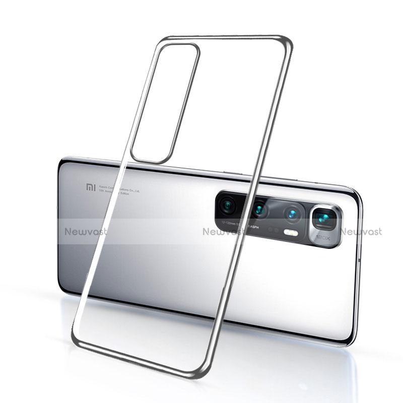 Ultra-thin Transparent TPU Soft Case Cover H03 for Xiaomi Mi 10 Ultra Silver