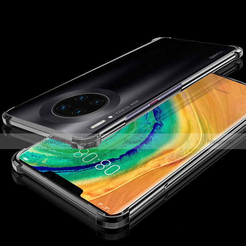 Ultra-thin Transparent TPU Soft Case Cover H04 for Huawei Mate 30 Pro 5G Black