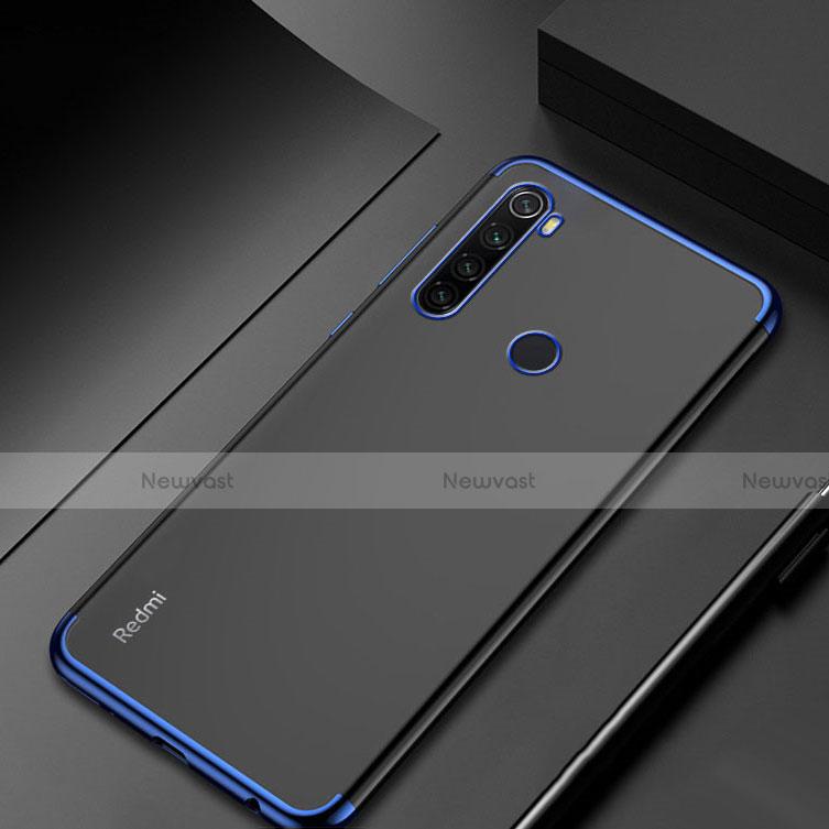 Ultra-thin Transparent TPU Soft Case Cover H04 for Xiaomi Redmi Note 8 Blue