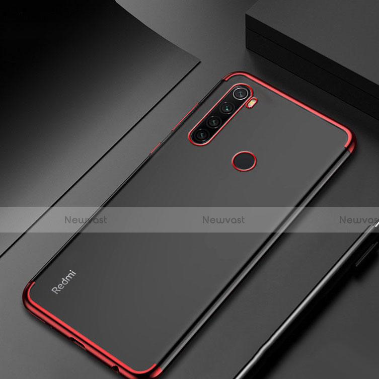 Ultra-thin Transparent TPU Soft Case Cover H04 for Xiaomi Redmi Note 8 Red