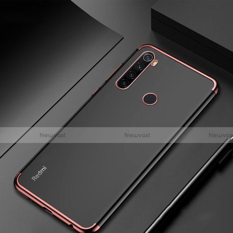Ultra-thin Transparent TPU Soft Case Cover H04 for Xiaomi Redmi Note 8 Rose Gold