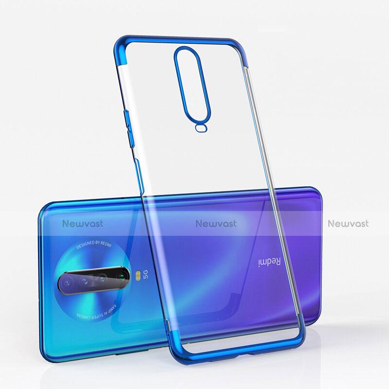 Ultra-thin Transparent TPU Soft Case Cover H05 for Xiaomi Redmi K30 5G Blue