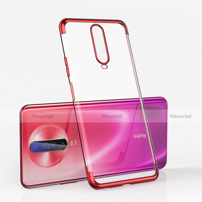Ultra-thin Transparent TPU Soft Case Cover H05 for Xiaomi Redmi K30 5G Red