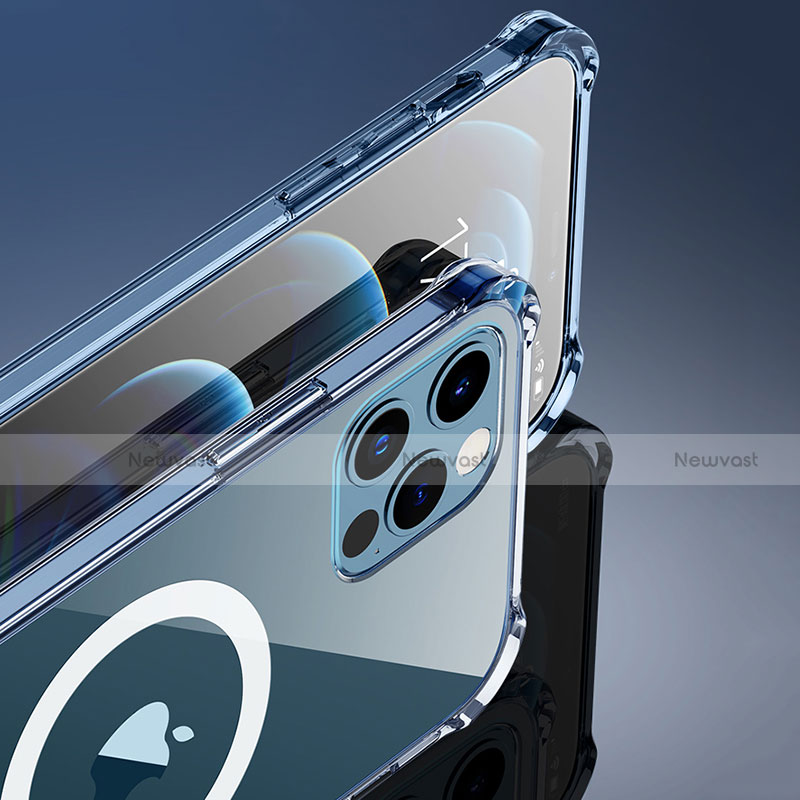 Ultra-thin Transparent TPU Soft Case Cover with Mag-Safe Magnetic for Apple iPhone 12 Pro Clear