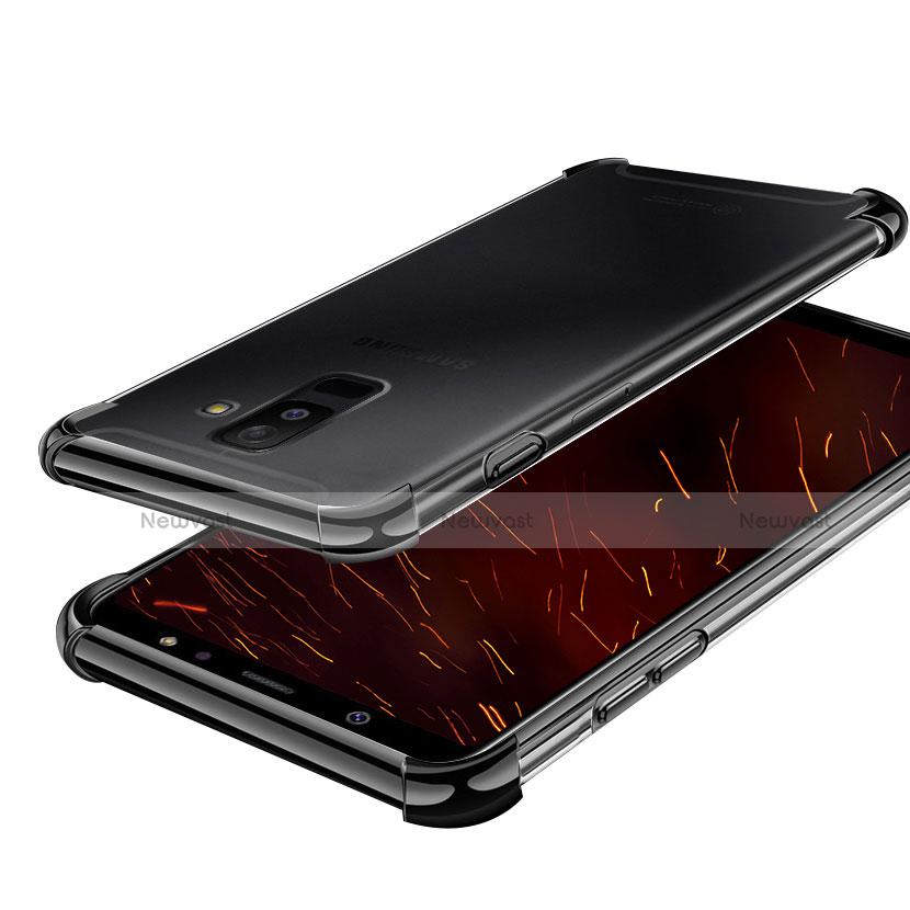 Ultra-thin Transparent TPU Soft Case H01 for Samsung Galaxy A6 Plus Black