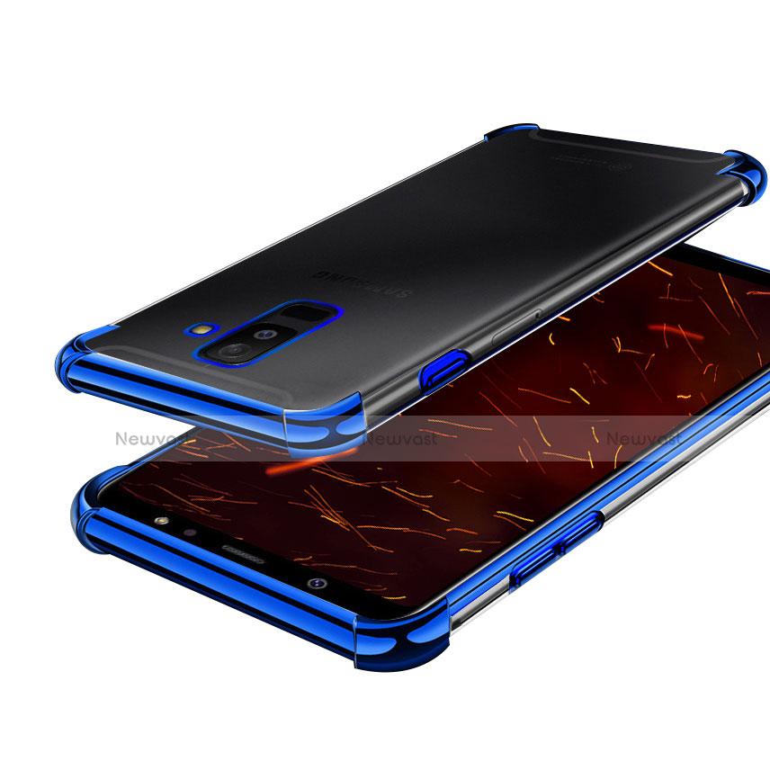 Ultra-thin Transparent TPU Soft Case H01 for Samsung Galaxy A9 Star Lite Blue