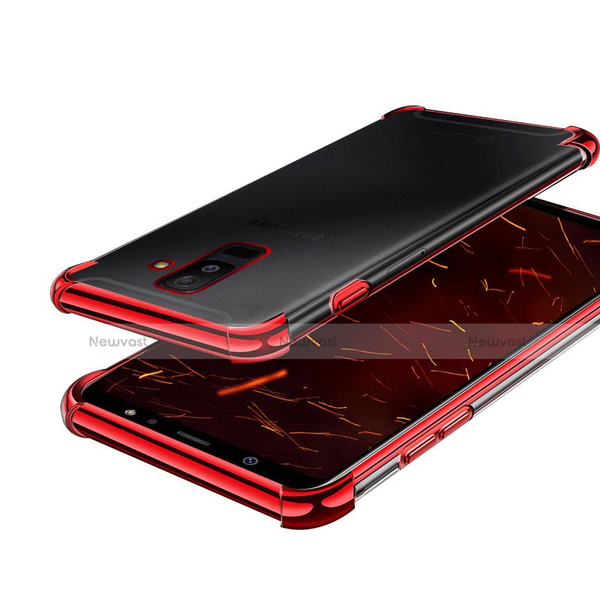 Ultra-thin Transparent TPU Soft Case H01 for Samsung Galaxy A9 Star Lite Red