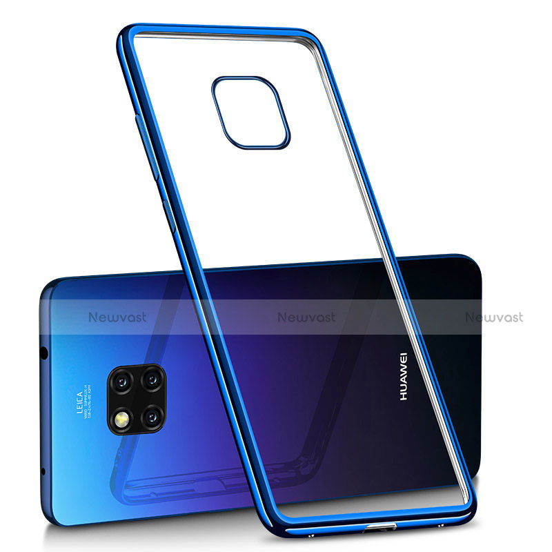 Ultra-thin Transparent TPU Soft Case H02 for Huawei Mate 20 Pro Blue