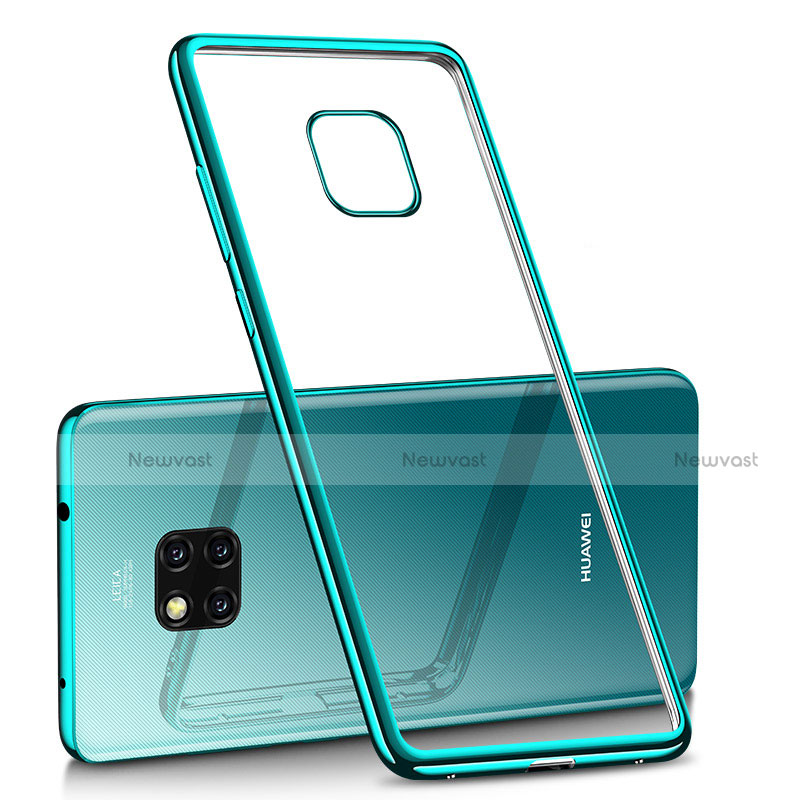 Ultra-thin Transparent TPU Soft Case H02 for Huawei Mate 20 Pro Green