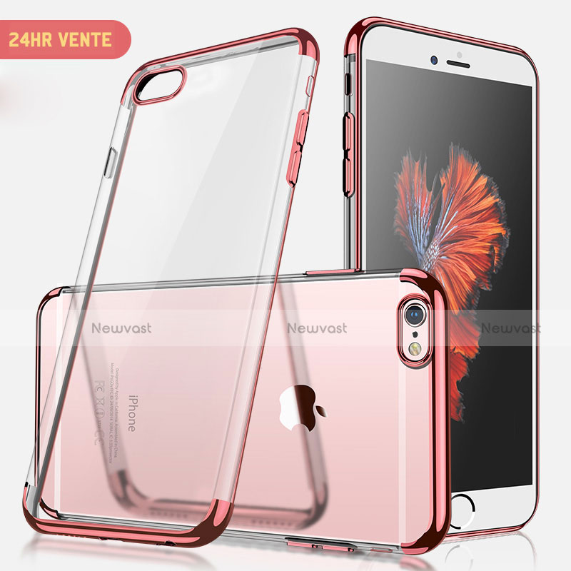 Ultra-thin Transparent TPU Soft Case H04 for Apple iPhone SE (2020) Rose Gold