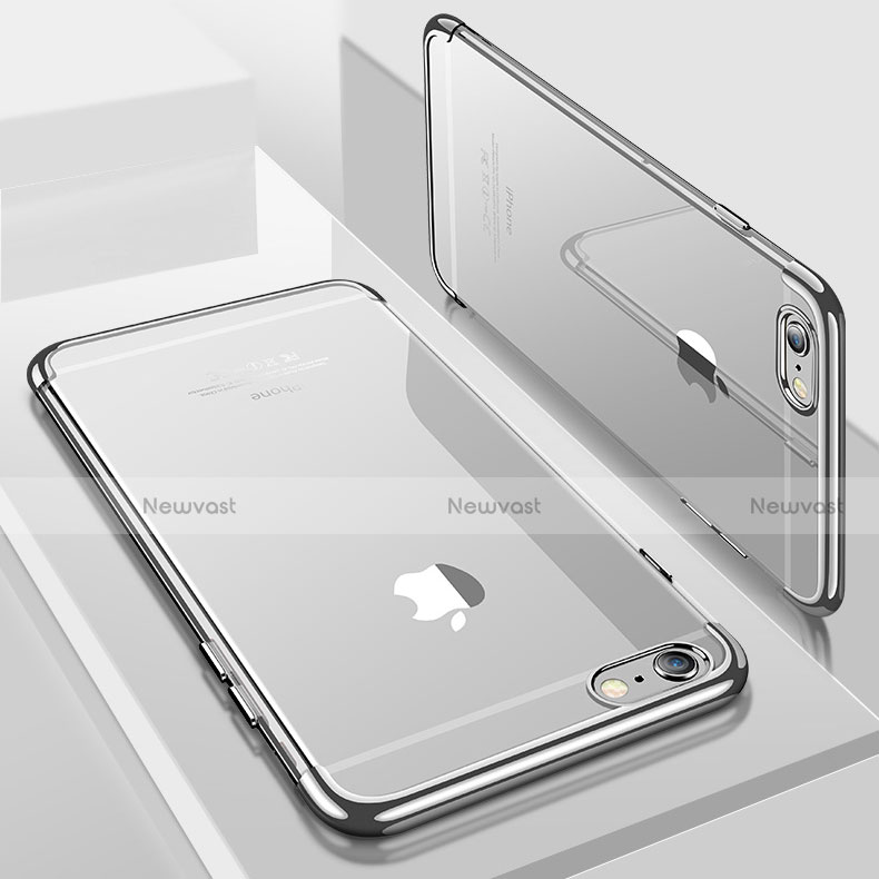 Ultra-thin Transparent TPU Soft Case H04 for Apple iPhone SE (2020) Silver