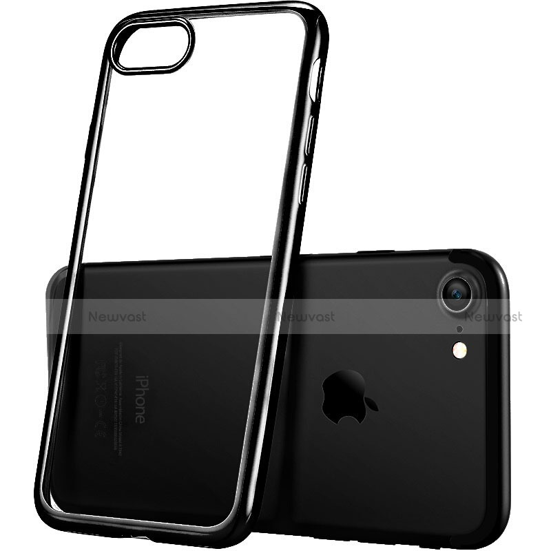 Ultra-thin Transparent TPU Soft Case H07 for Apple iPhone SE (2020) Black