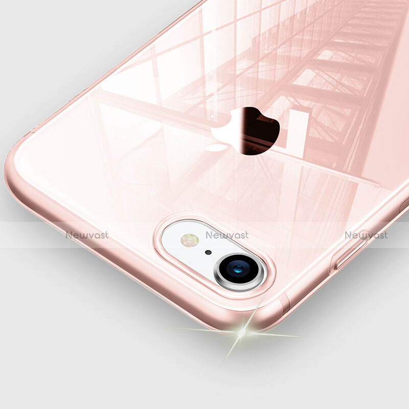 Ultra-thin Transparent TPU Soft Case H09 for Apple iPhone SE (2020) Pink