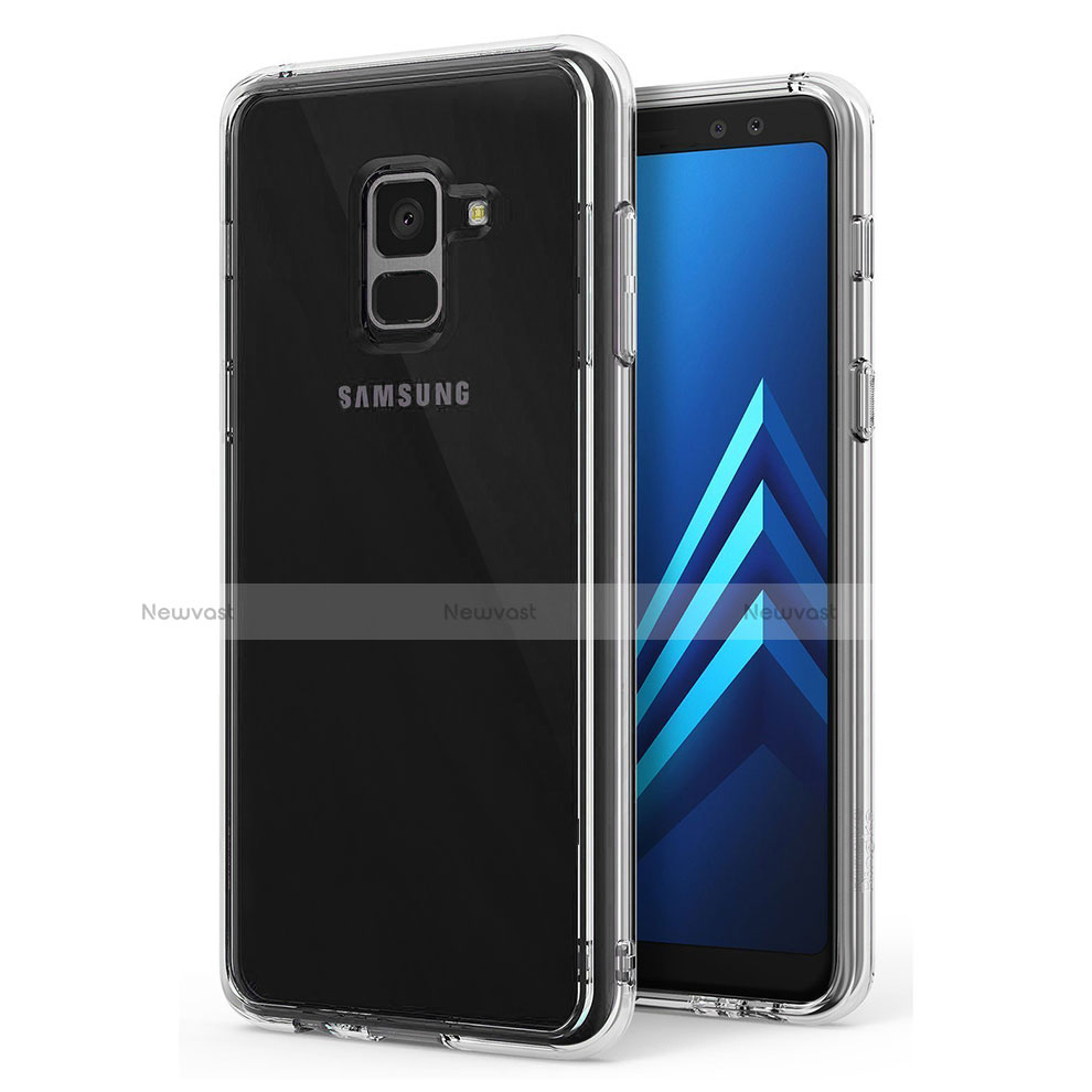 Ultra-thin Transparent TPU Soft Case T02 for Samsung Galaxy A8 (2018) Duos A530F Clear
