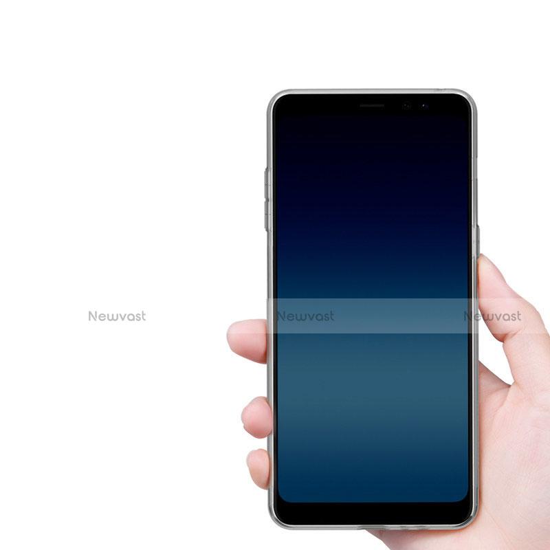Ultra-thin Transparent TPU Soft Case T02 for Samsung Galaxy A8+ A8 Plus (2018) A730F Clear