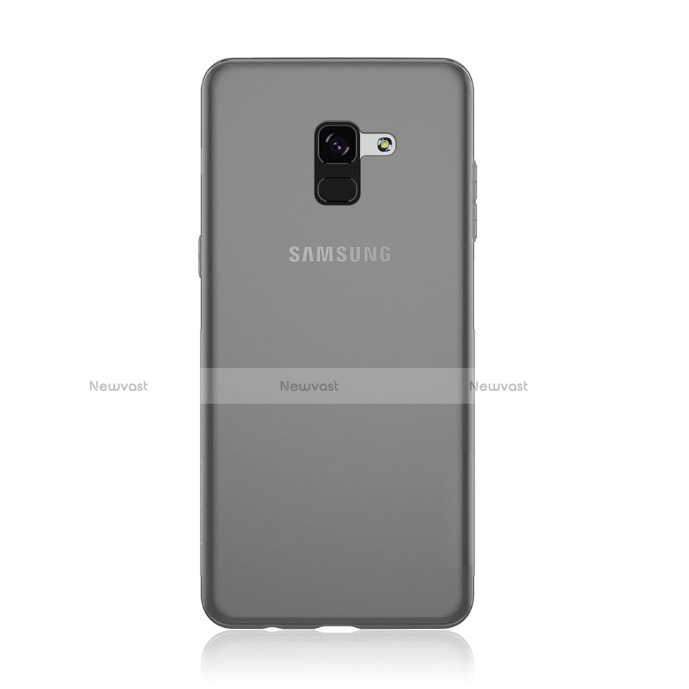 Ultra-thin Transparent TPU Soft Case T02 for Samsung Galaxy A8+ A8 Plus (2018) A730F Gray