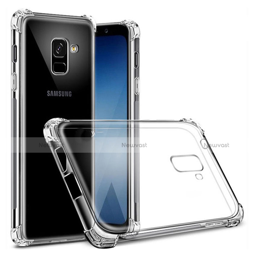 Ultra-thin Transparent TPU Soft Case T03 for Samsung Galaxy A8+ A8 Plus (2018) A730F Clear
