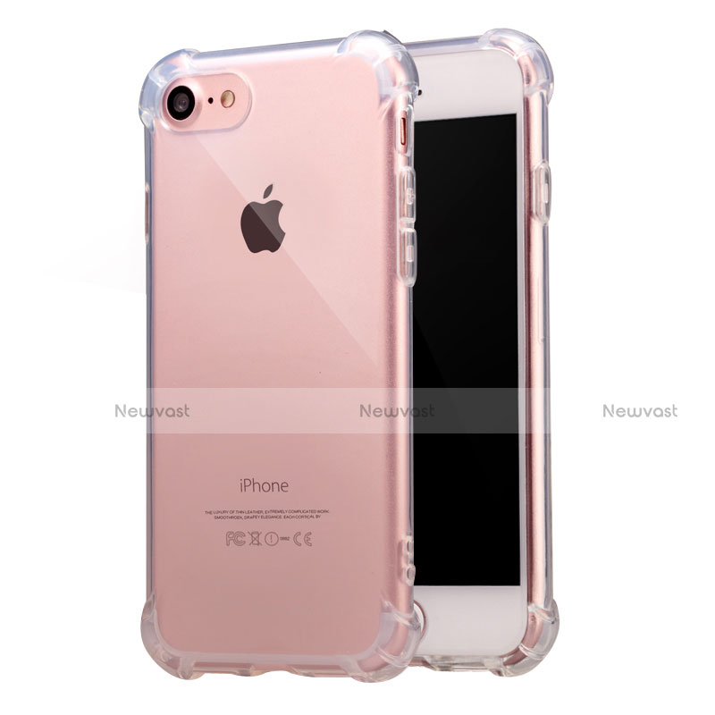 Ultra-thin Transparent TPU Soft Case T07 for Apple iPhone SE (2020) Clear