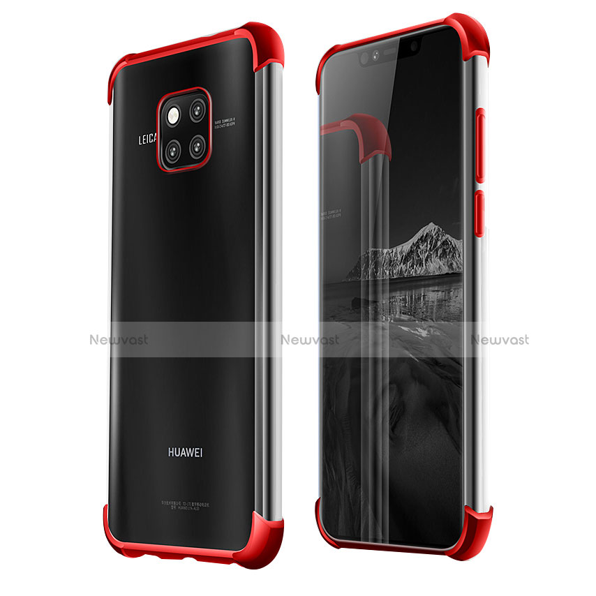 Ultra-thin Transparent TPU Soft Case U03 for Huawei Mate 20 Pro Red