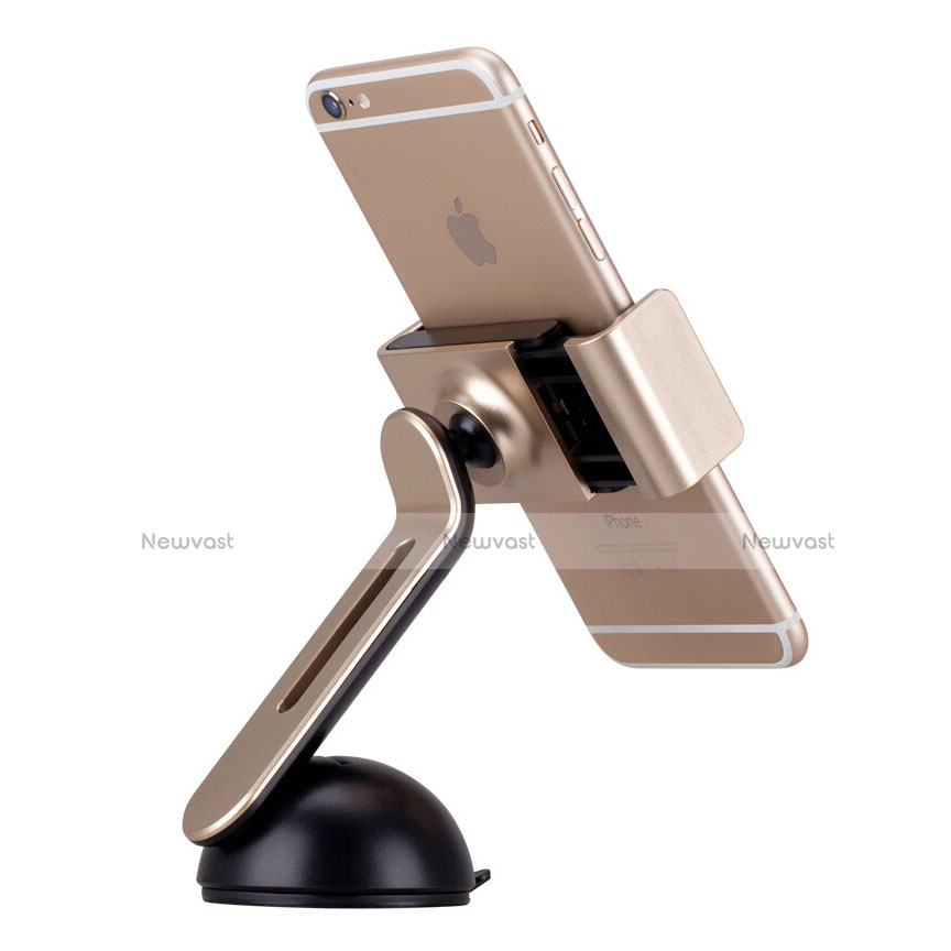 Universal Car Suction Cup Mount Cell Phone Holder Stand M13 Gold