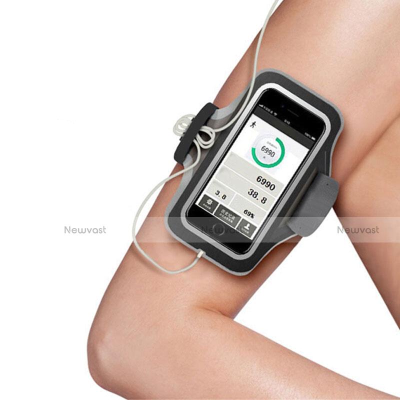 Universal Gym Sport Running Jog Arm Band Strap Case B06 Black