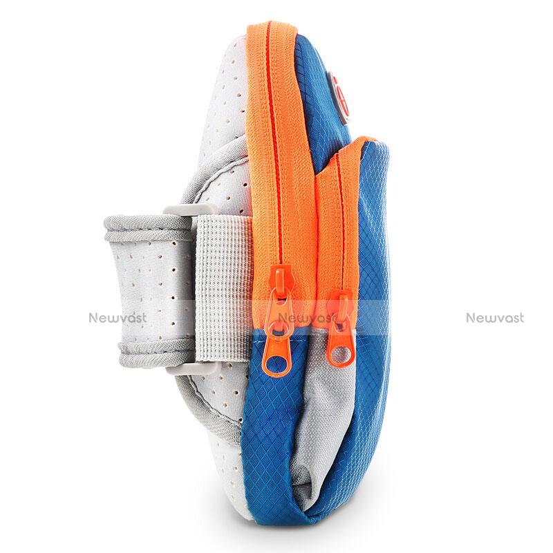 Universal Gym Sport Running Jog Arm Band Strap Case Diamond B01 Blue