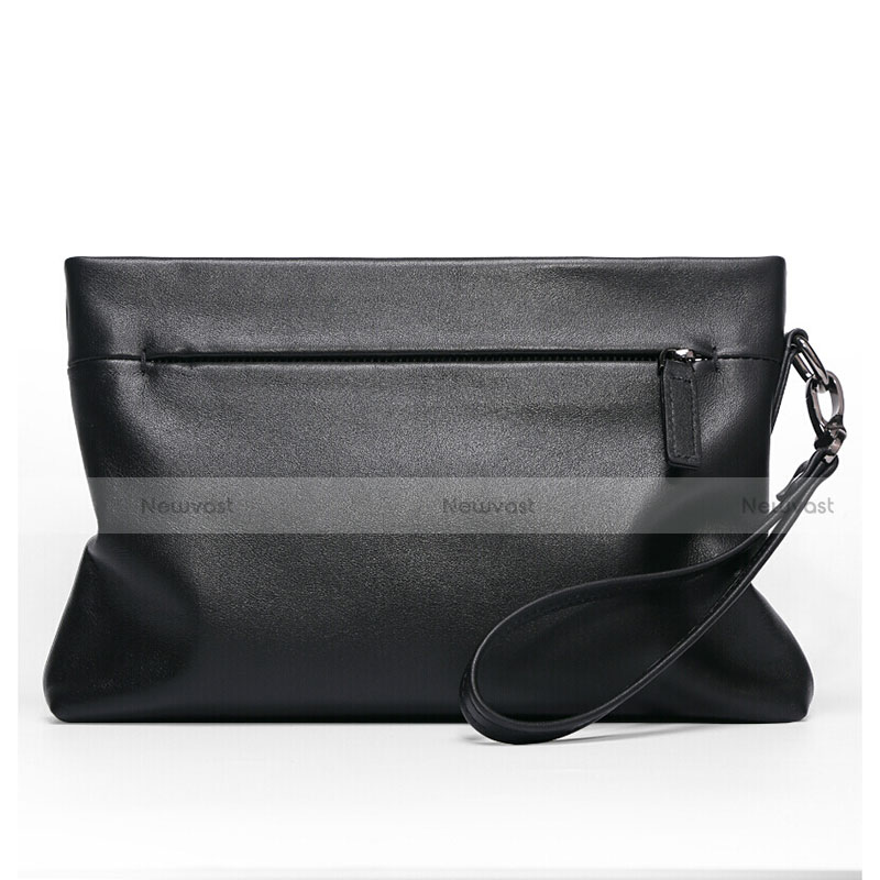 Universal Leather Wristlet Wallet Handbag Case H20 Black