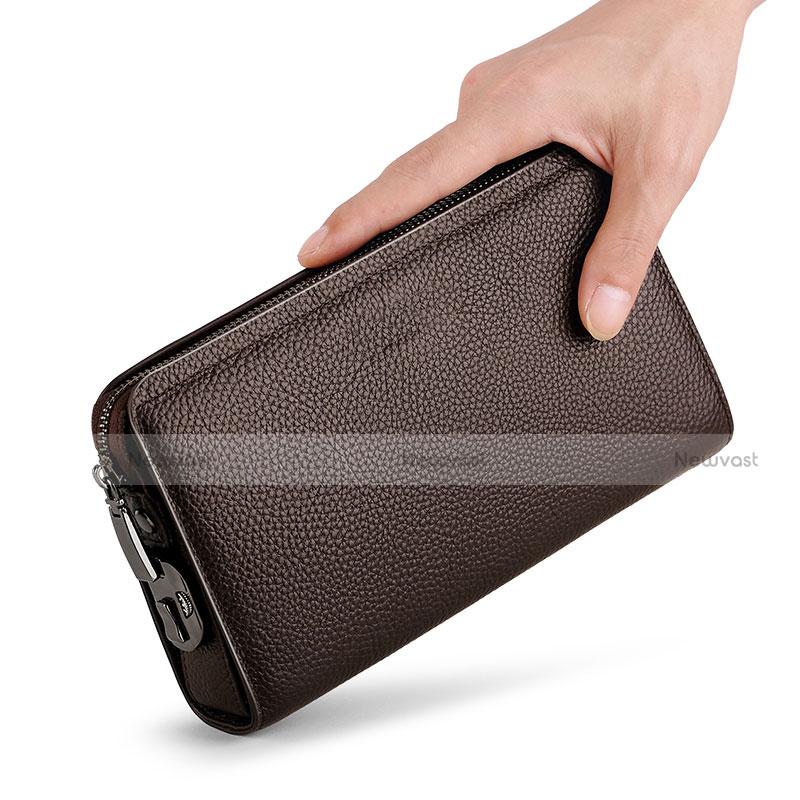 Universal Leather Wristlet Wallet Handbag Case K19