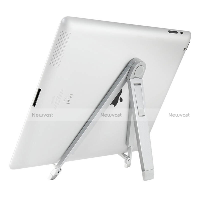 Universal Tablet Stand Mount Holder for Apple iPad 4 Silver