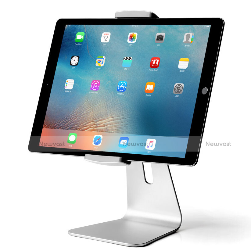 Universal Tablet Stand Mount Holder T24 for Apple iPad 2 Silver