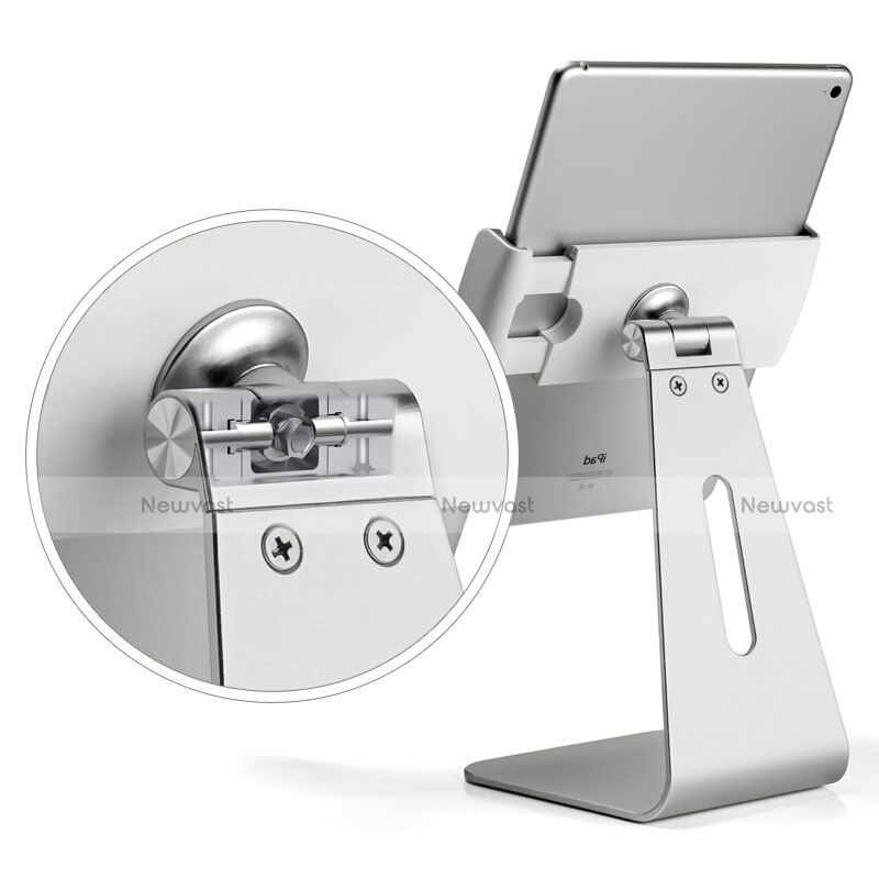 Universal Tablet Stand Mount Holder T24 for Apple iPad 3 Silver