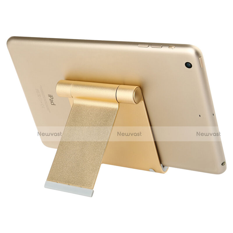 Universal Tablet Stand Mount Holder T27 for Apple iPad 4 Gold
