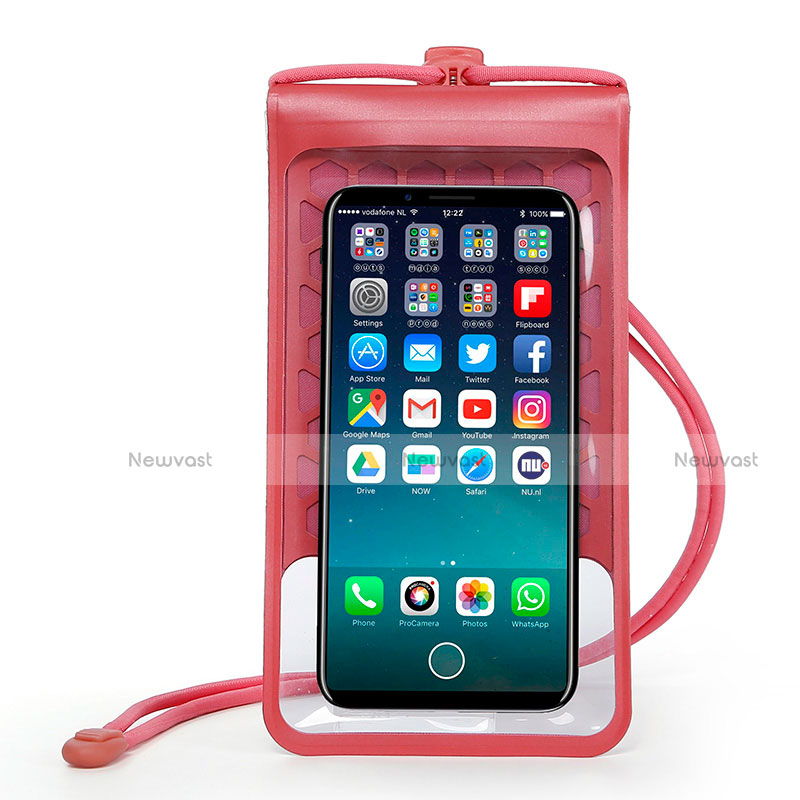 Universal Waterproof Cover Dry Bag Underwater Pouch W15 Red